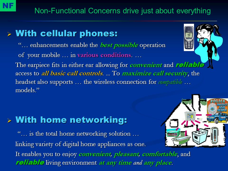  With cellular phones: … enhancements enable the best possible operation of your mobile … in various conditions.