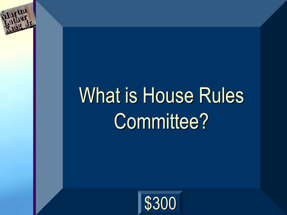 This House committee is the most powerful in Congress because it establishes specific parameters for debate and procedures for amending bills.