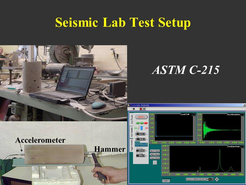 Seismic Lab Test Setup Hammer Accelerometer ASTM C-215