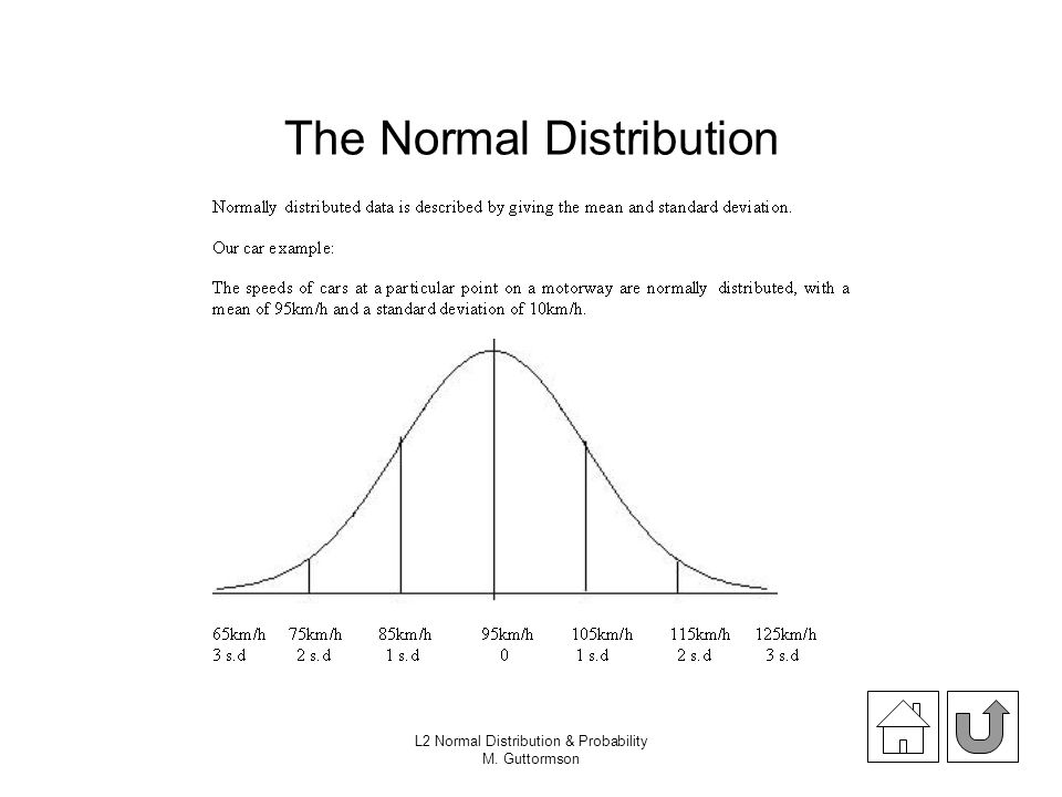 L2 Normal Distribution & Probability M. Guttormson The Normal Distribution