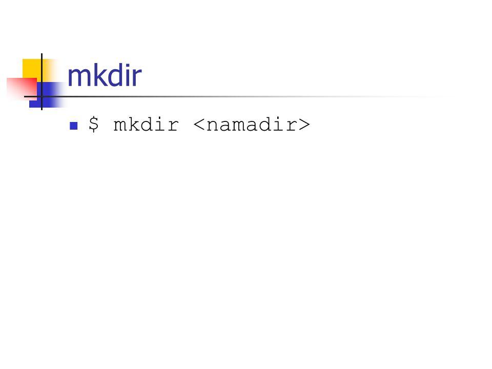 mkdir $ mkdir