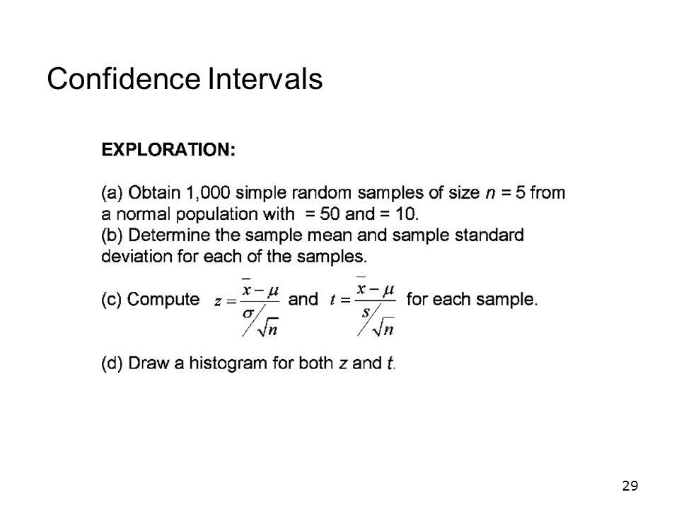 29 Confidence Intervals