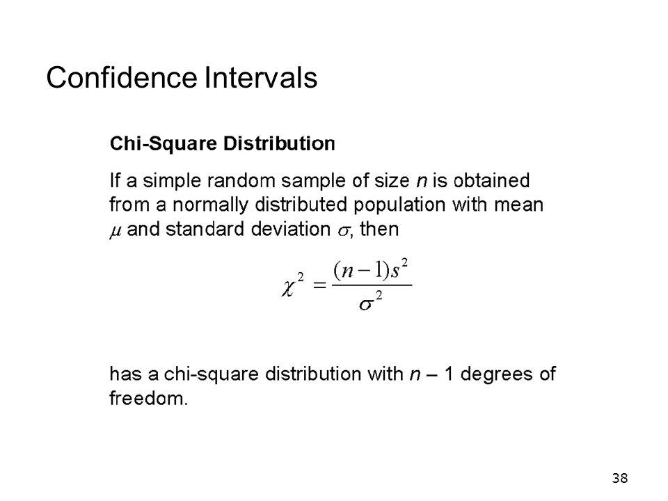 38 Confidence Intervals