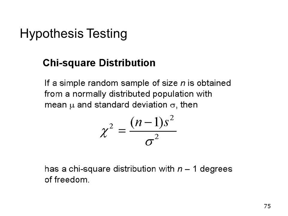 75 Hypothesis Testing
