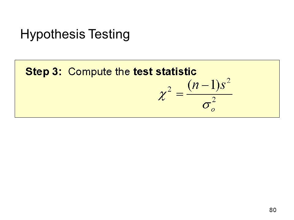 80 Hypothesis Testing