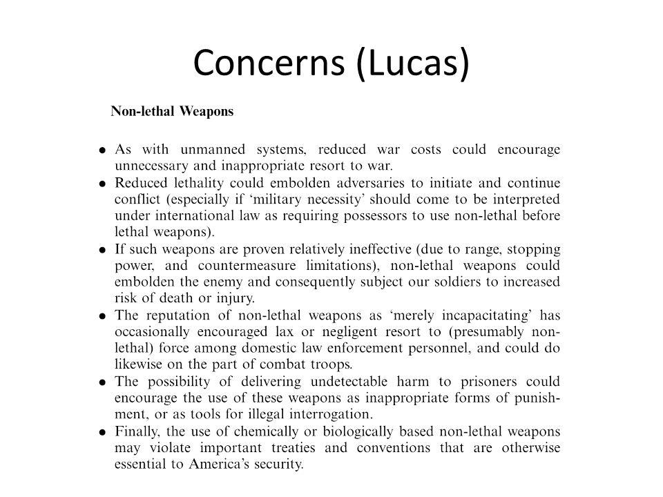 Concerns (Lucas)