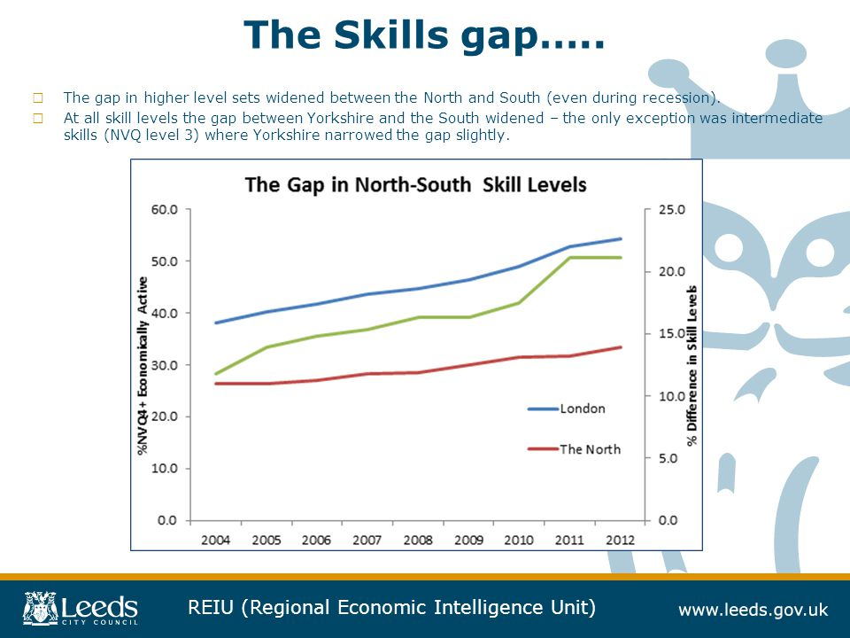 REIU (Regional Economic Intelligence Unit) The Skills gap…..