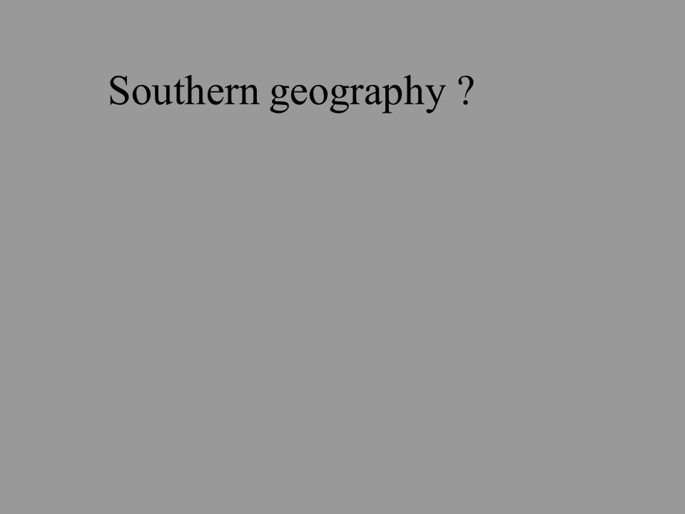 Southern geography