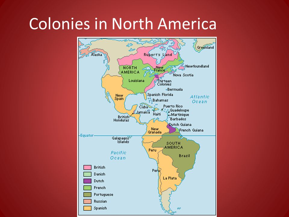 Colonies in North America