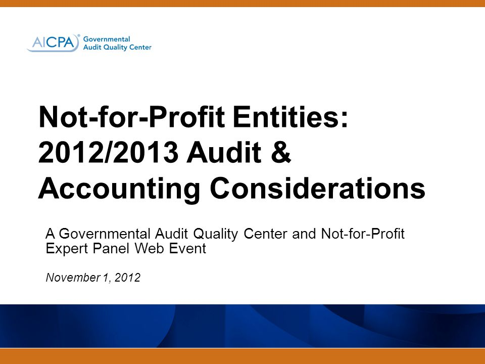 Governmental Audit Quality Center Administrative Notes Troubleshooting Tips No Audio.