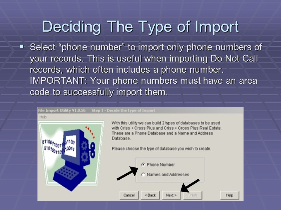  Select names and addresses to import names, addresses, and zip codes of your records.