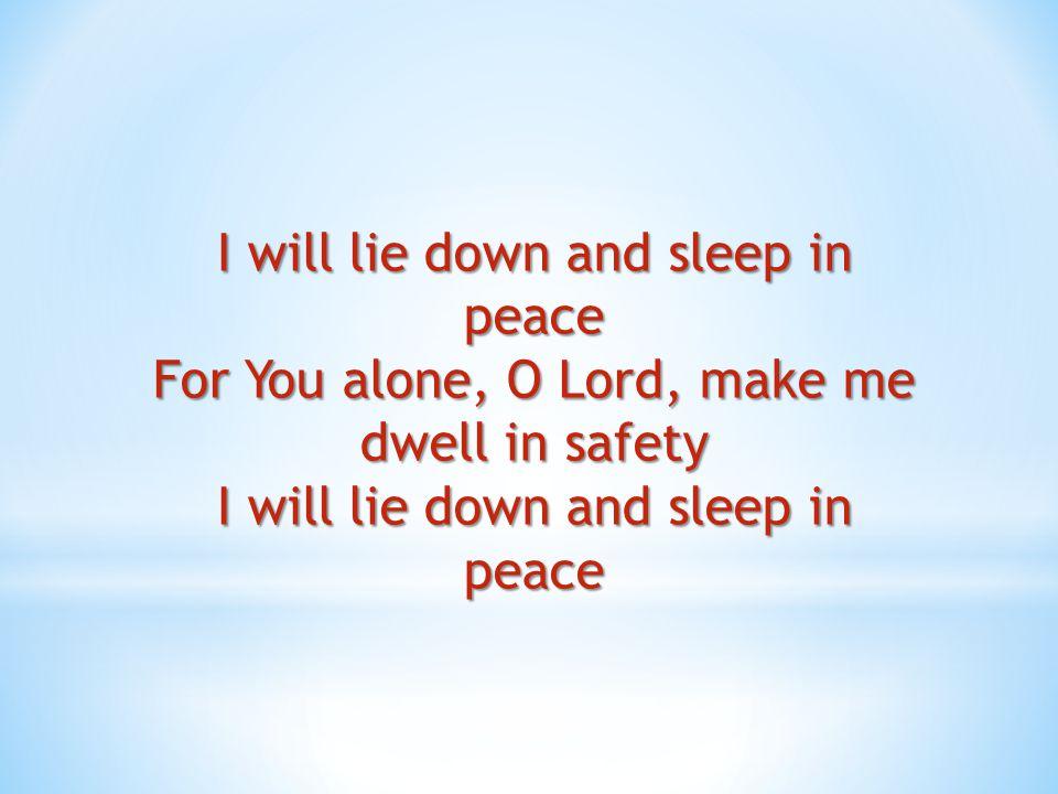 I will not be afraid I will not be afraid of the darkness I will not be afraid I am resting in You
