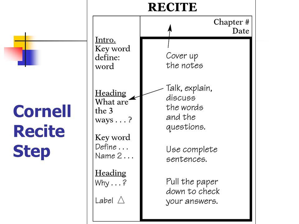 Cornell Recite Step