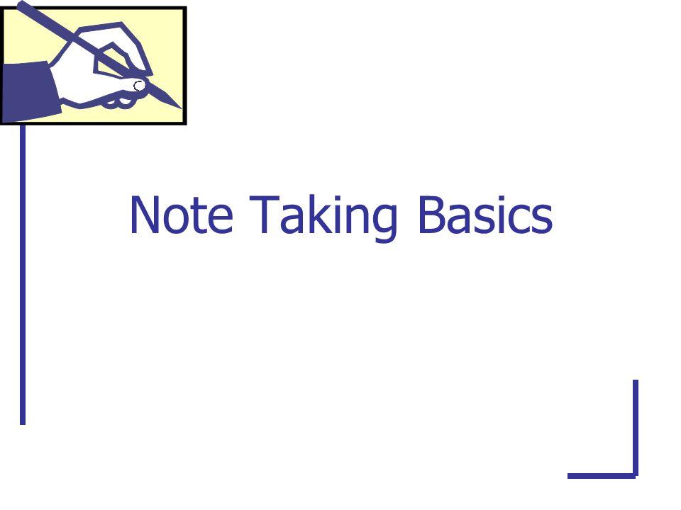 Note Taking Basics