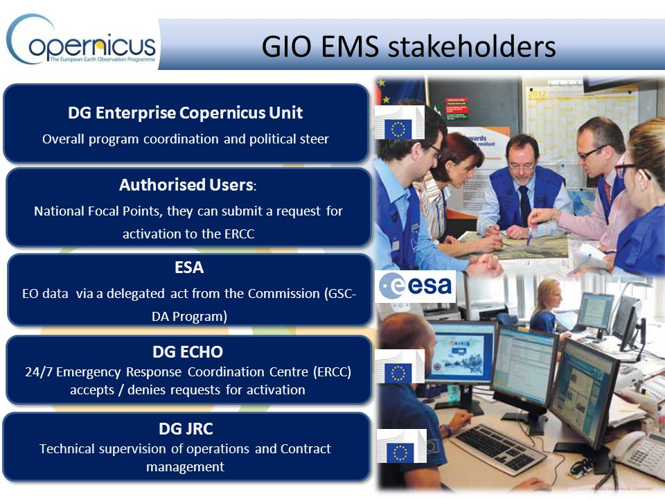 Copernicus EMS Service Overview RUSH Service High level of urgency Active 24/7 Mapping Validation NON RUSH Service Low level of urgency