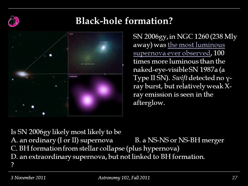 Black-hole formation.