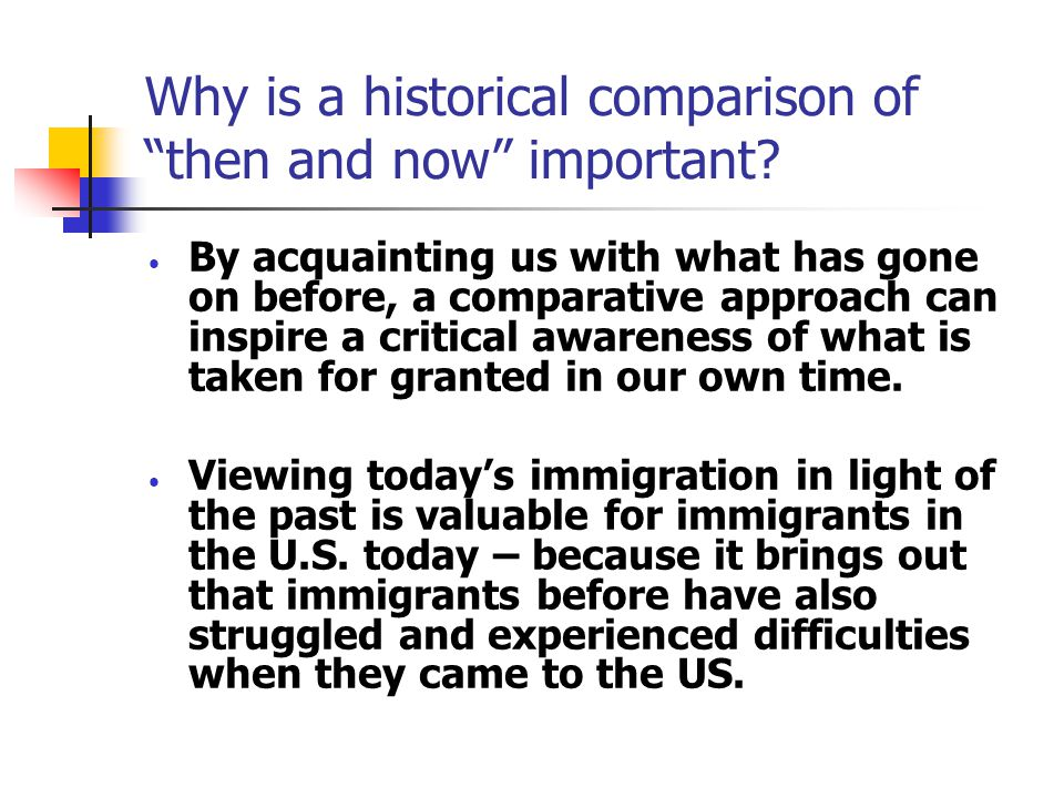 Focus of the Talk: Two Great Immigration Waves of the Past 125 Years Last great wave to the US: between 1880s and early 1920s Present wave to the US: began in the late 1960s and still going strong