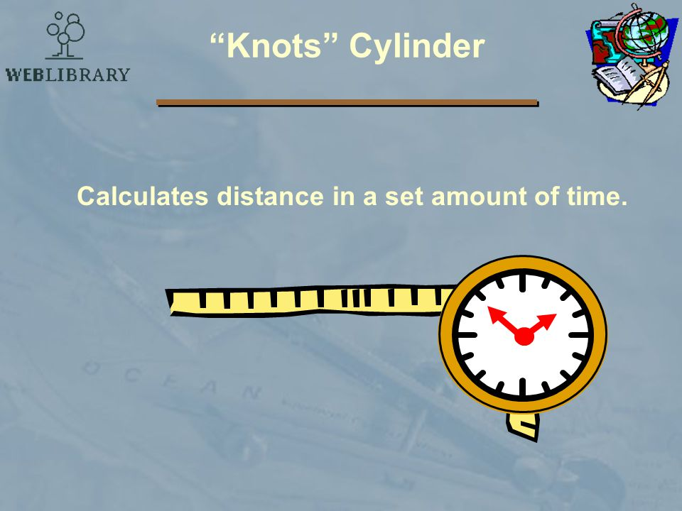Knots Cylinder Calculates distance in a set amount of time.
