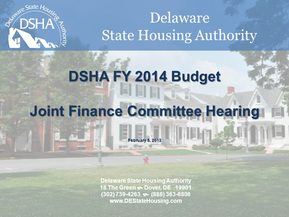Outline DSHA At a Glance FY14 Budget Request - HDF Base Budget - State Rental Assistance Program