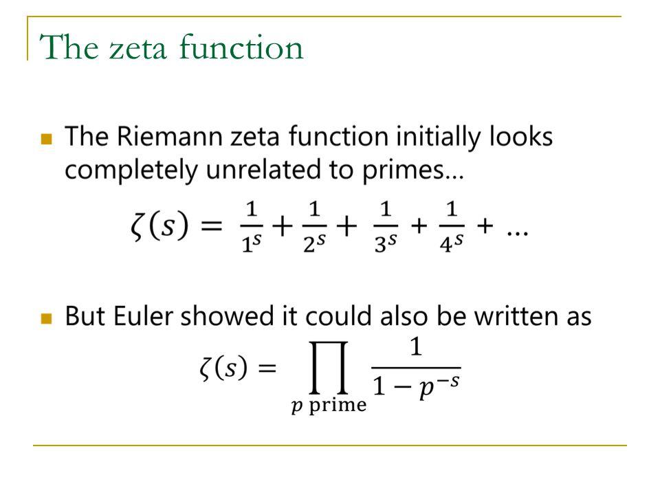 The zeta function