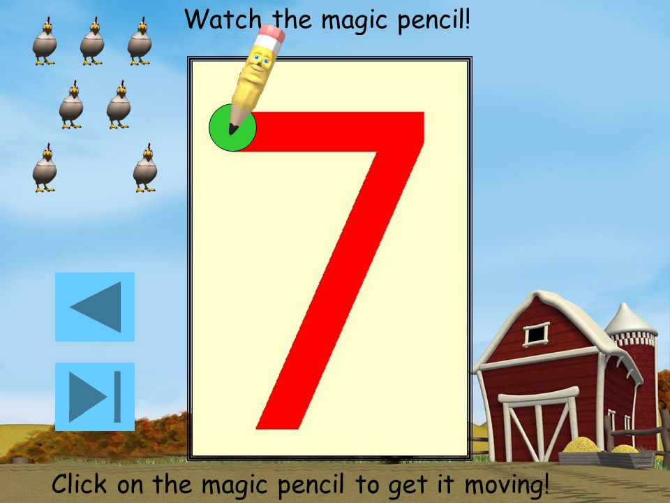 Watch the magic pencil! Click on the magic pencil to get it moving!