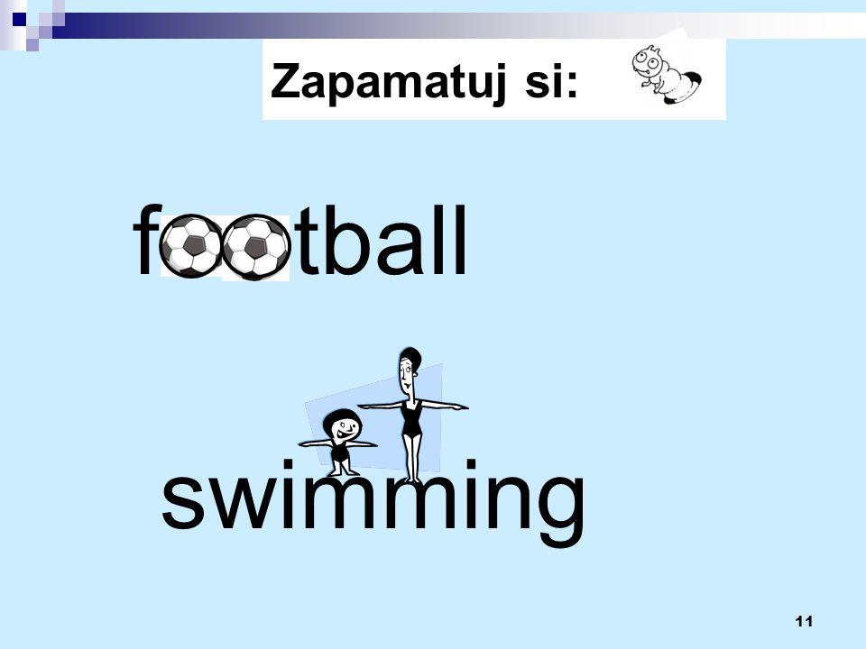 11 f tball swimming Zapamatuj si: