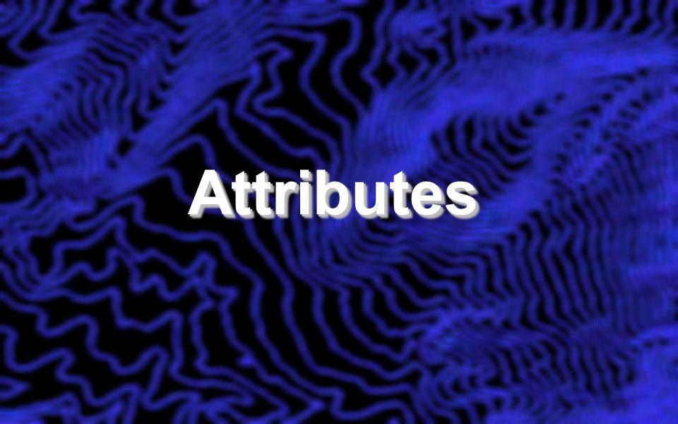 AttributesAttributes