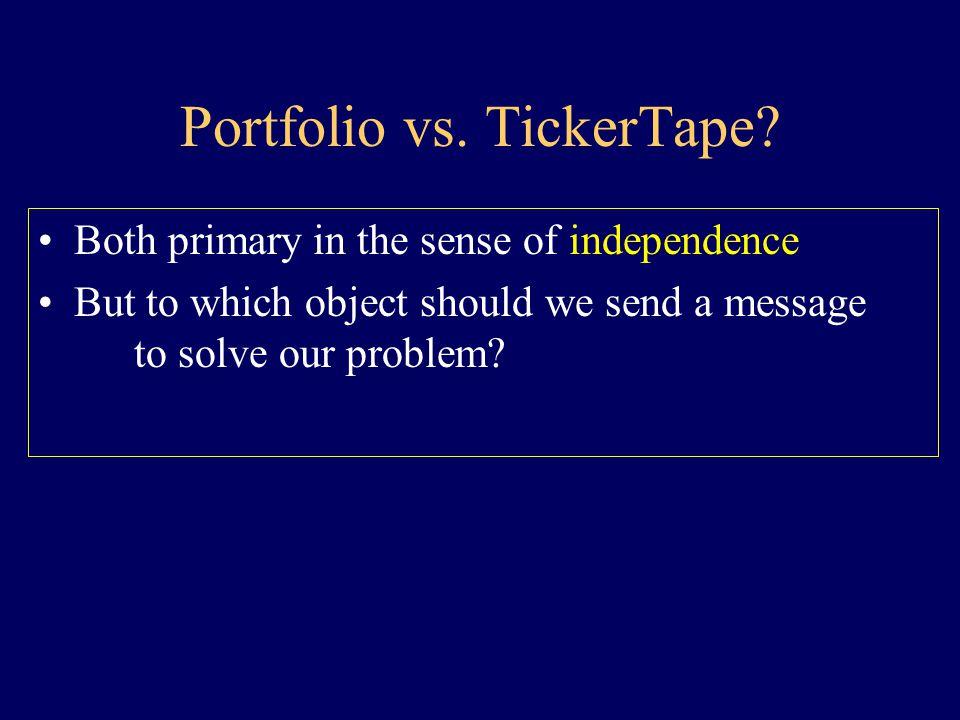 Primary Object not Holding not Value Portfolio vs. TickerTape