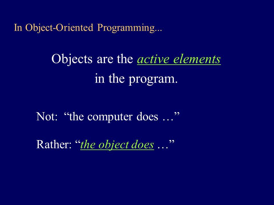 NEXT STEP: Pick a class and follow procedure....