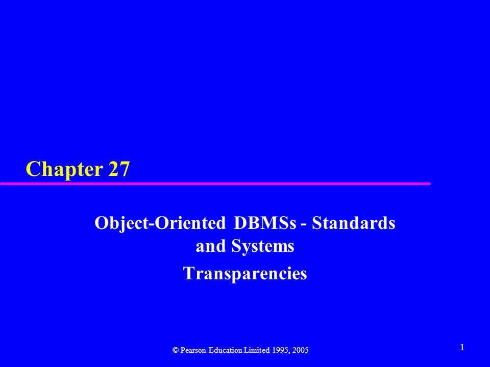 2 Chapter 27 - Objectives u Object Management Group (OMG), CORBA, and other OMG standards.