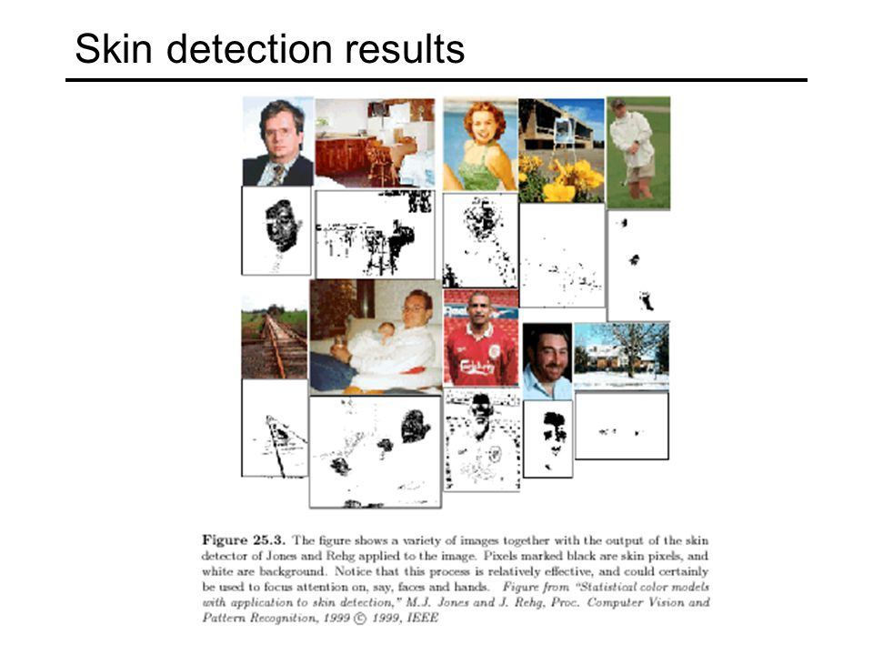 Skin detection results
