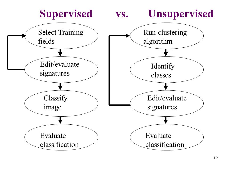12 Supervised vs.