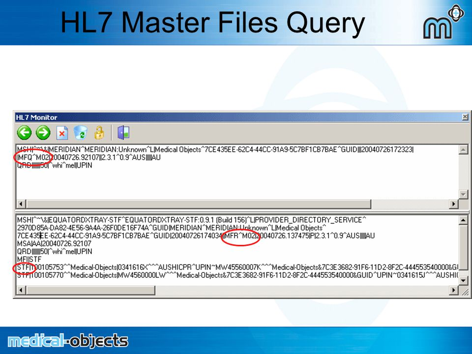 HL7 Master Files Query