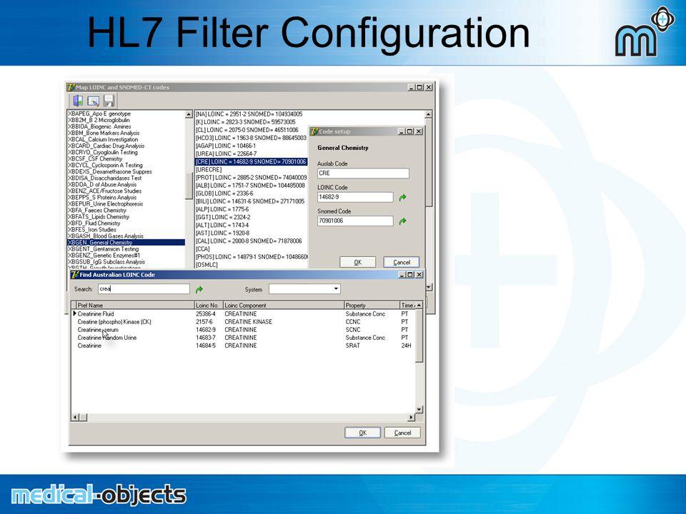 HL7 Filter Configuration