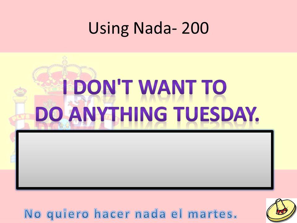 Using Nada- 200