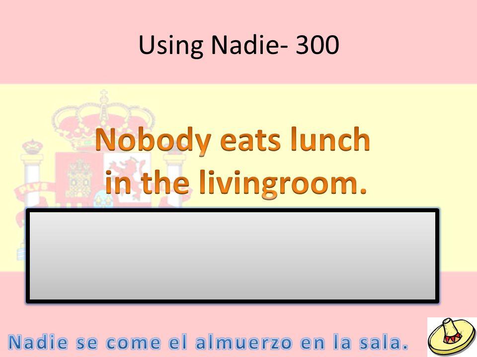 Using Nadie- 300
