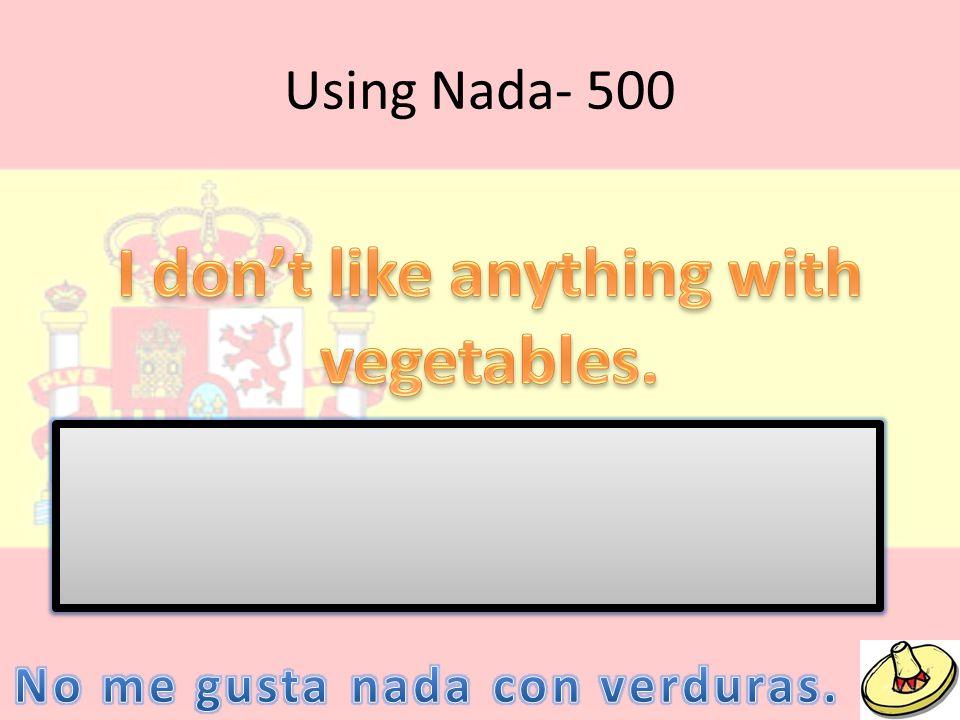 Using Nada- 500