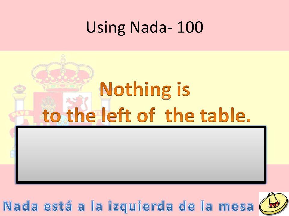 Using Nada- 100