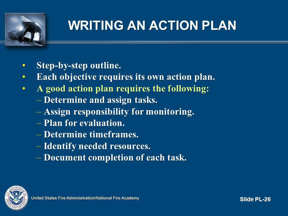 WRITING AN ACTION PLAN Step-by-step outline.Step-by-step outline.