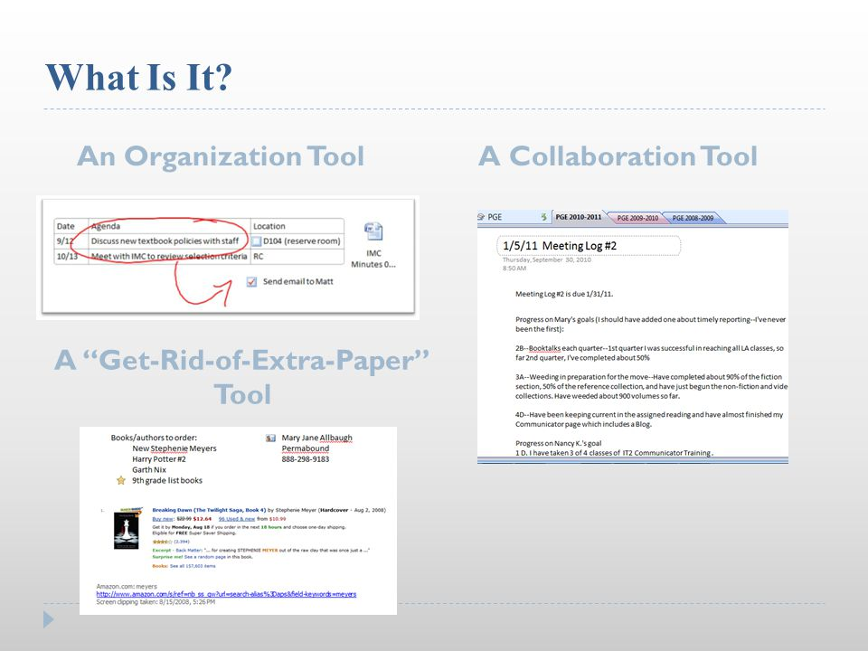 What Is It An Organization ToolA Collaboration Tool A Get-Rid-of-Extra-Paper Tool