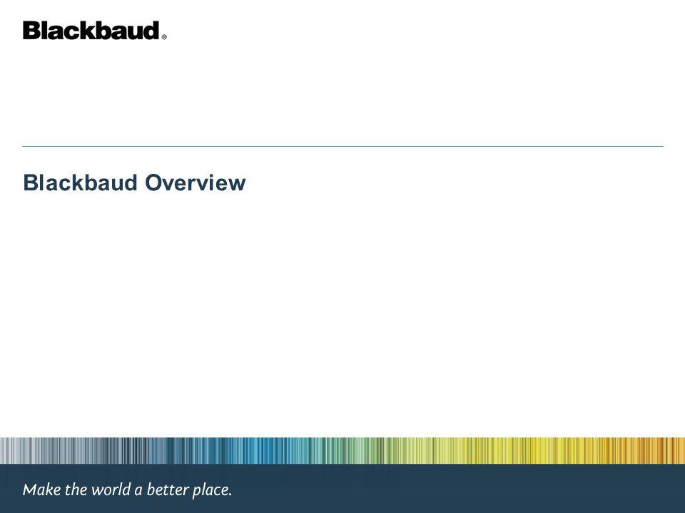Blackbaud Overview
