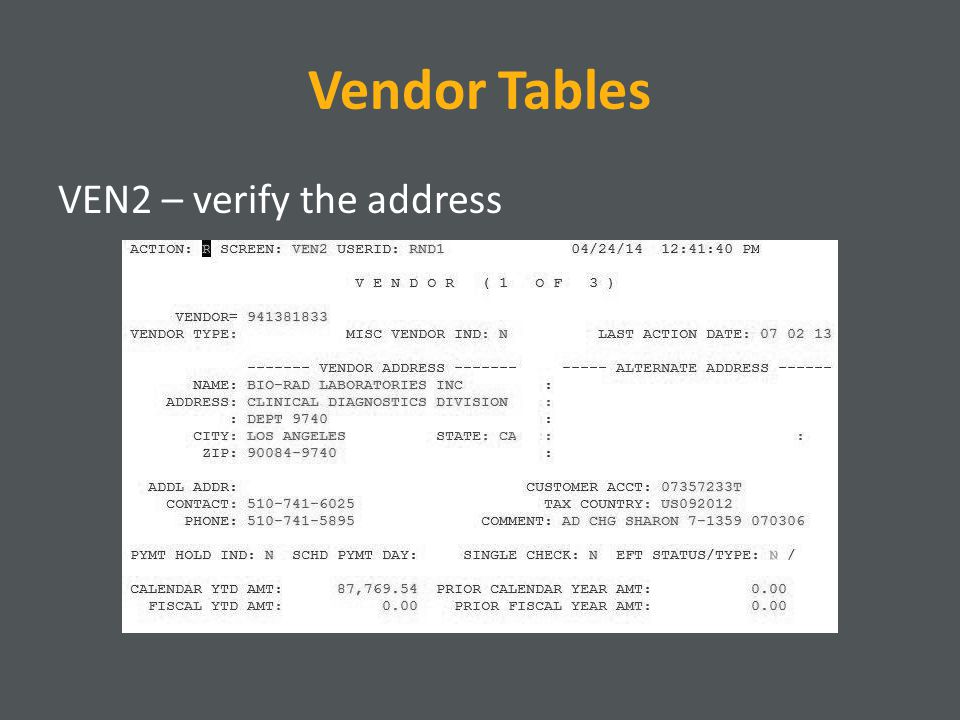 VE: Foreign Entity Enter FOREIGN for the vendor number