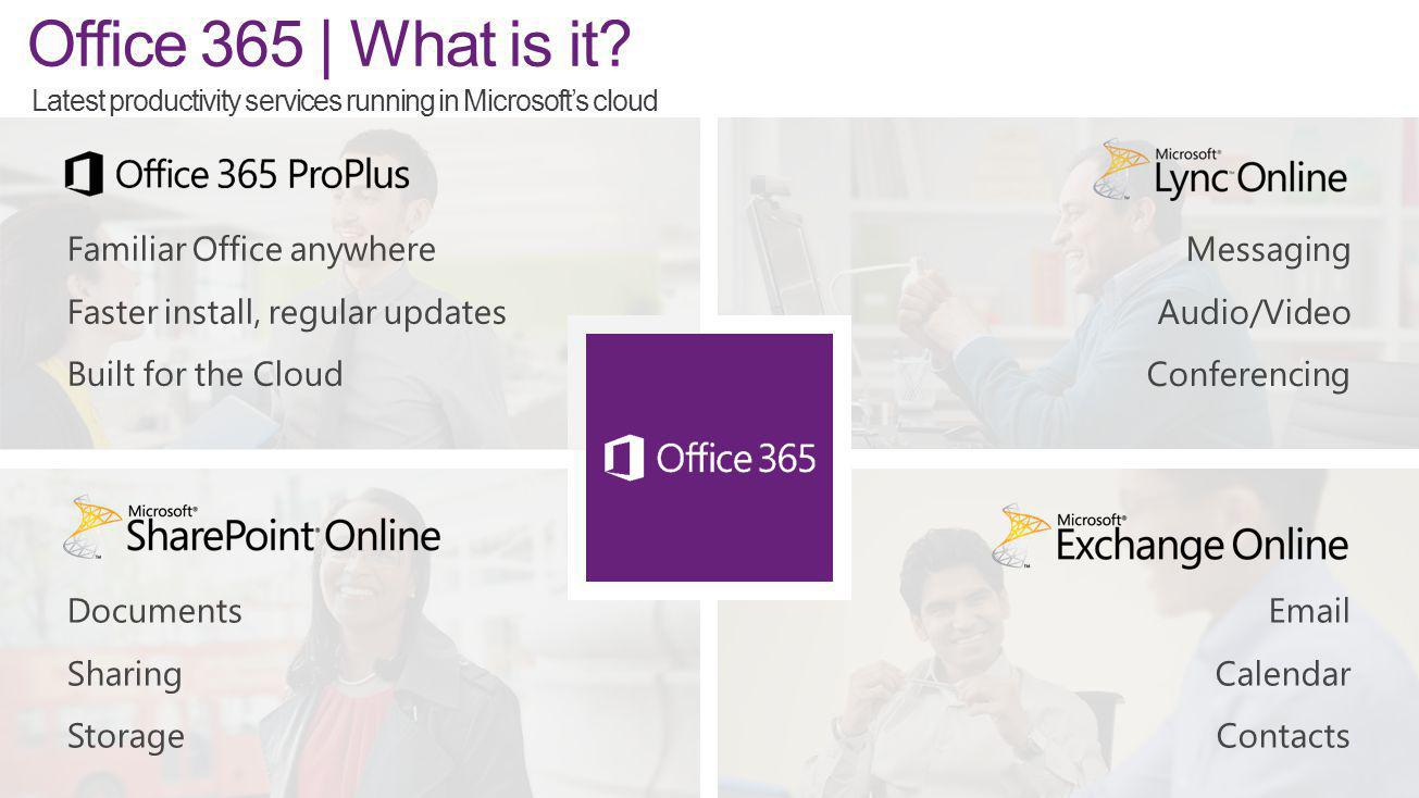 Office 365 through OVS-ES Sold as 1 year subscription Up-front payment Available as Additional Product and may be ordered in any quantity OVS-ES: No minimum threshold once program minimums are met Academic Open: 5 License minimum order requirement waived.