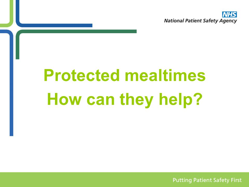 What are protected mealtimes.