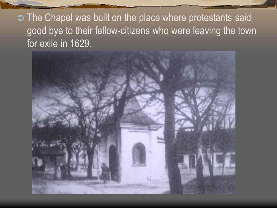  The chapel was built by Pavel Blažek, a Jejkov miller in 1657.