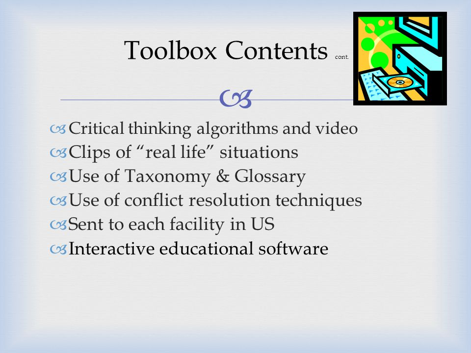 """ Toolbox Contents 1.Ethical, Legal, Regulatory Statement 2.Poster 3.Brochure 4.Pocket Card 5.Bibliography 6.Taxonomy & Glossary 7.Tip Sheets 8.""""Top T"""