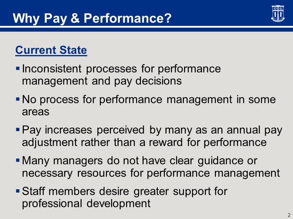 3 Why Pay & Performance.