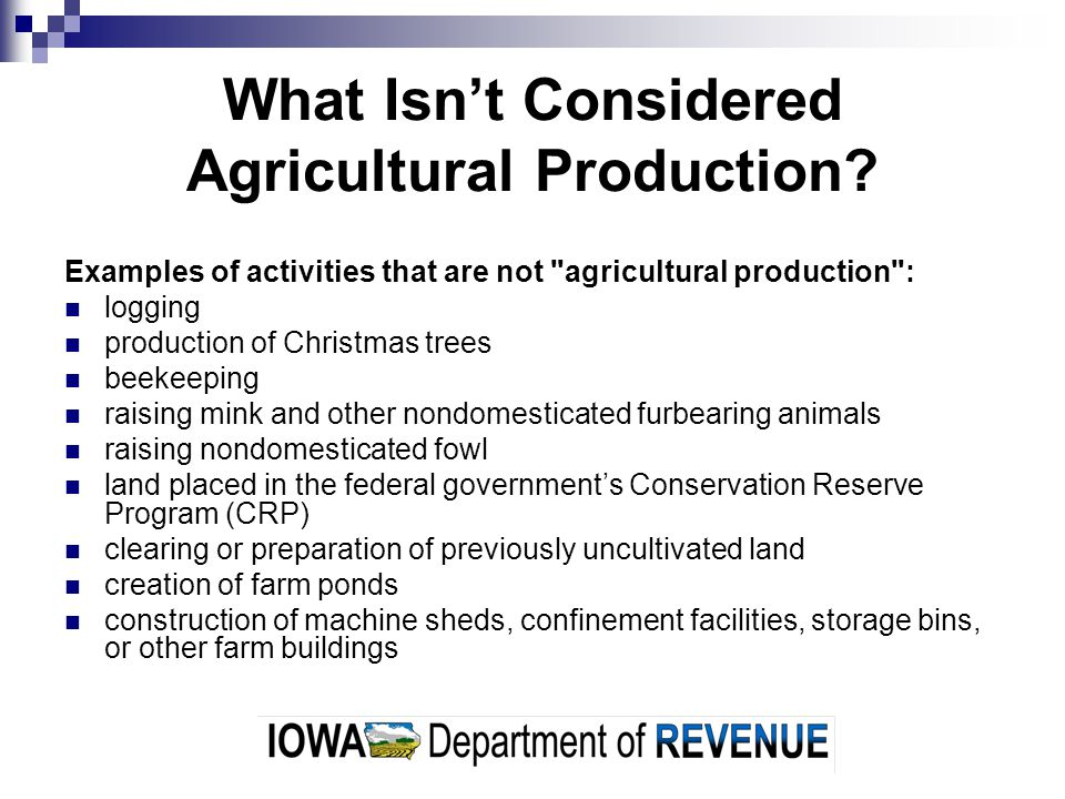 When Does Agricultural Production Begin & End.