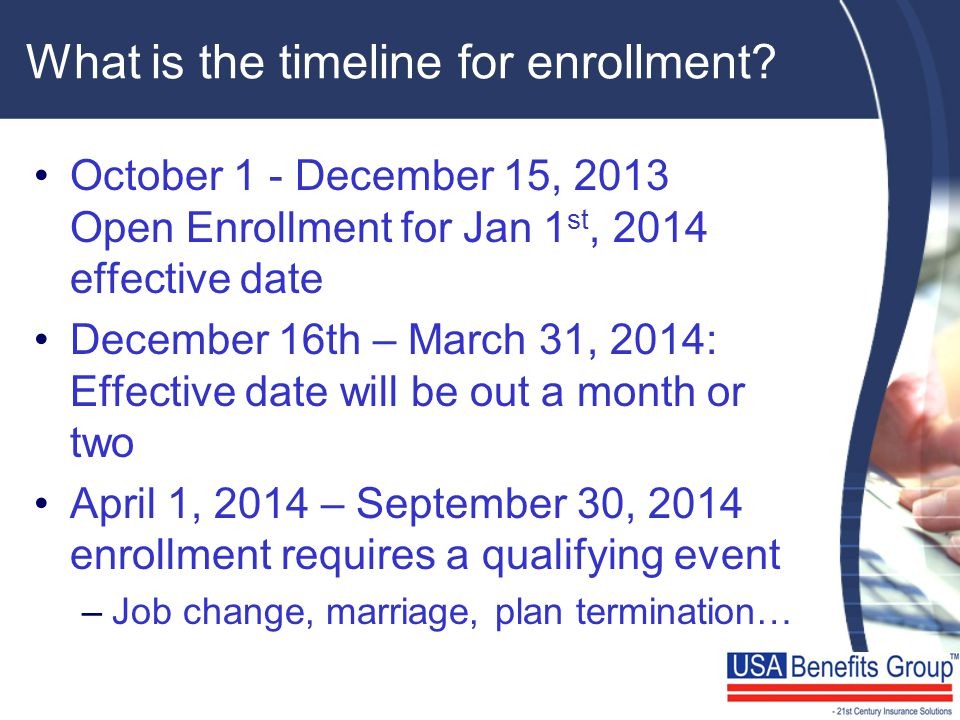 What is the timeline for enrollment.