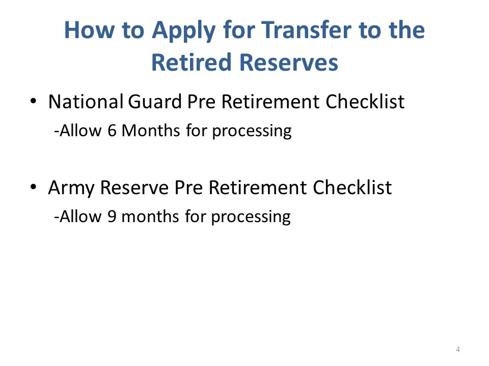 Modifications to Retired Pay Application 25 - Write: Early Age Drop in RED INK at top of DD Form 108 and 2656, if reduced retirement applies - Add Date of Rank to Block 4 of both DD Form 108 and DD Form 2656, if a high 36 retiree